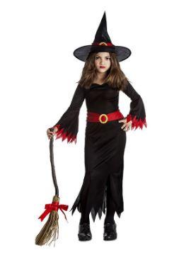 disfraz de bruja picos negra niña