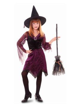 disfraz de bruja purpura para niña