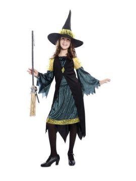 disfraz de bruja verde para niña