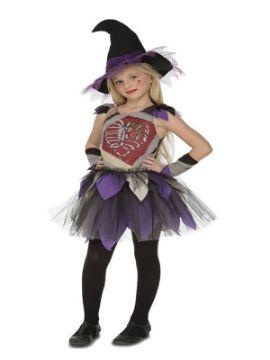 disfraz de brujita esqueleto para niña