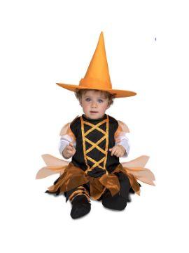 disfraz de brujita naranja para bebe