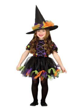 disfraz de brujita topos colores niña