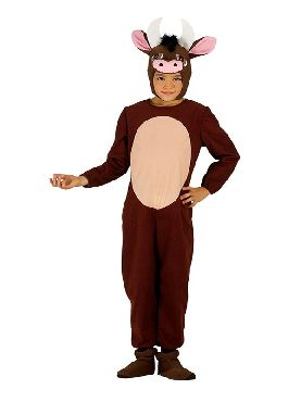 disfraz de buey marron infantil