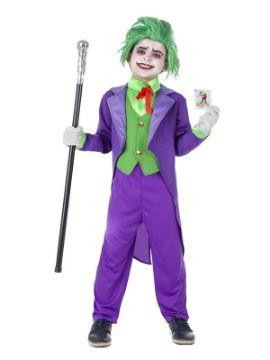 disfraz de bufon joker malvado niño