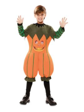 disfraz de calabaza alegre para niño