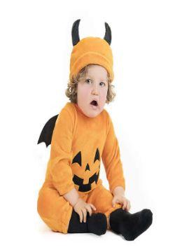 disfraz de calabaza divertida para bebe