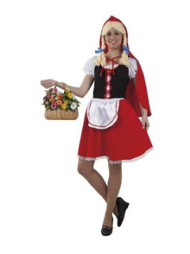 disfraz de caperucita roja clasica para mujer