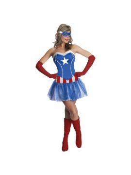 disfraz de capitan america marvel classic para mujer