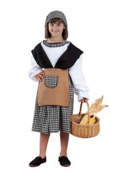 disfraz de castañera para niña