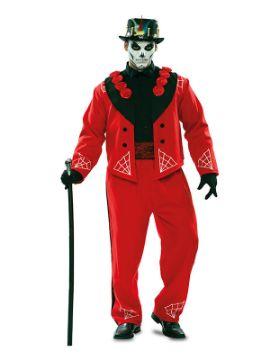 disfraz de catrin rojo para hombre