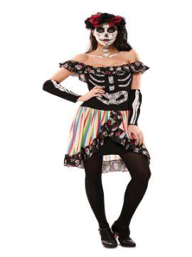 disfraz de catrina colores para mujer