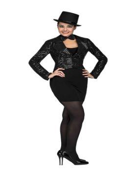 disfraz de chaque con pajarita negro mujer