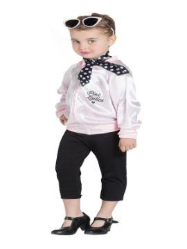 disfraz de chaqueta pink lady niña
