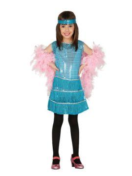 disfraz de charleston azul niña