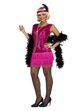 disfraz de charleston fucsia para mujer