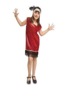 disfraz de charleston rojo niña