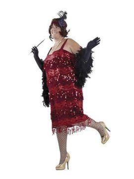 disfraz de charleston talla grande mujer