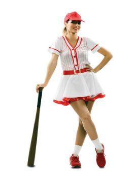 disfraz de chica beisbol para mujer