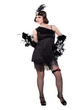 disfraz de chica chaleston negro para mujer