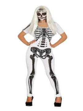 disfraz de chica esqueleto blanca adulta