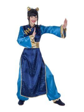 disfraz de china azul para mujer