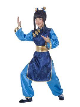 disfraz de china azul para niña