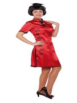 disfraz de china roja para mujer