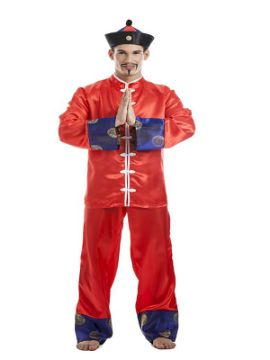 disfraz de chino oriental hombre