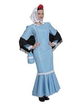 disfraz de chulapa azul mujer