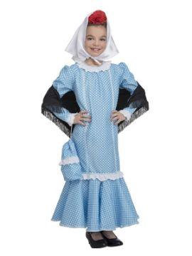disfraz de chulapa azul para niña