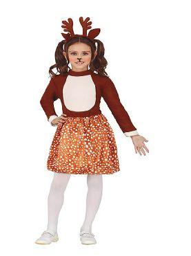disfraz de ciervo o reno para niña