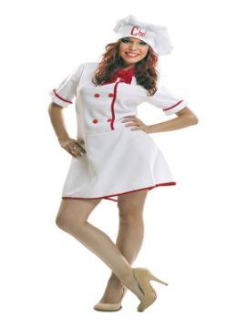 disfraz de cocinera chef mujer