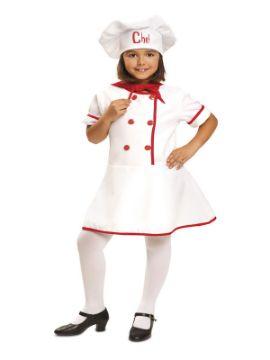 disfraz de cocinera chef niña