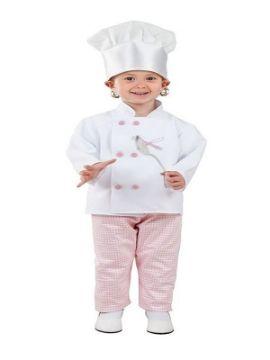 disfraz de cocinera rosa niña