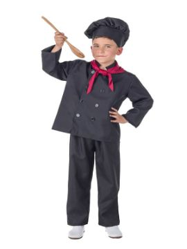 disfraz de cocinero negro para niño