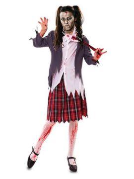 disfraz de colegiala zombie de mujer