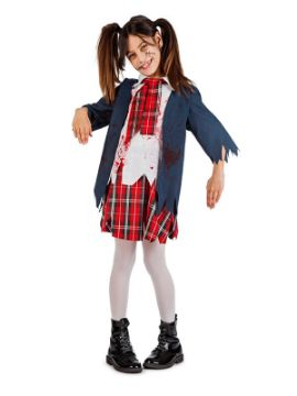disfraz de colegiala zombie niña