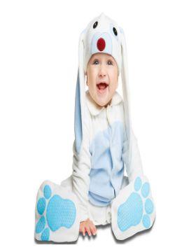 disfraz de conejo azul orejon para bebe