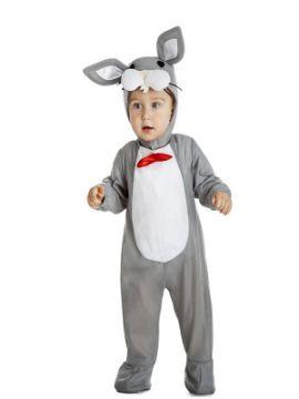 disfraz de conejo gris bebe