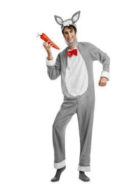disfraz de conejo gris hombre