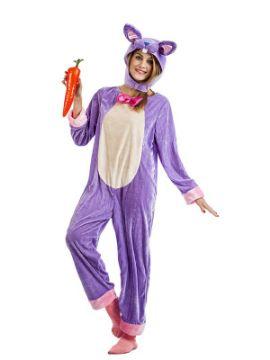 disfraz de conejo lila mujer