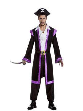 disfraz de corsario lila para hombre