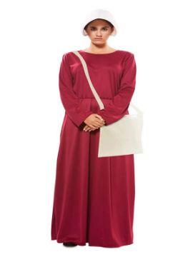 disfraz de criada granate vestido para mujer