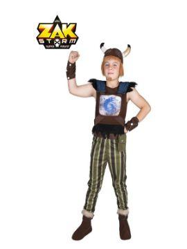 disfraz de crogar de zak storm con casco con peluca niño