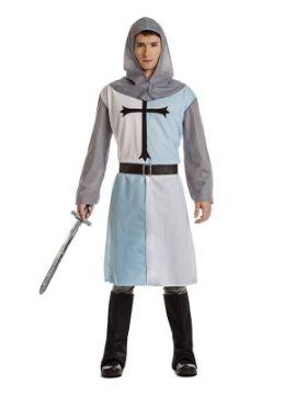 disfraz de cruzado azul para hombre