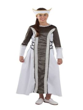disfraz de dama medieval isabel niña