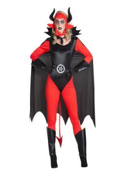 disfraz de demonia corse con capa mujer