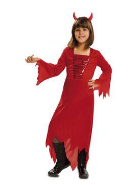 disfraz de demonia roja para niña