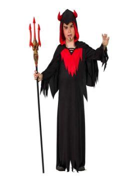 disfraz de demonio con capucha niño