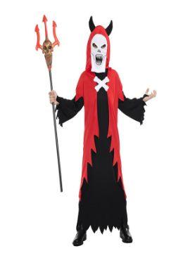 disfraz de demonio con mascara niño